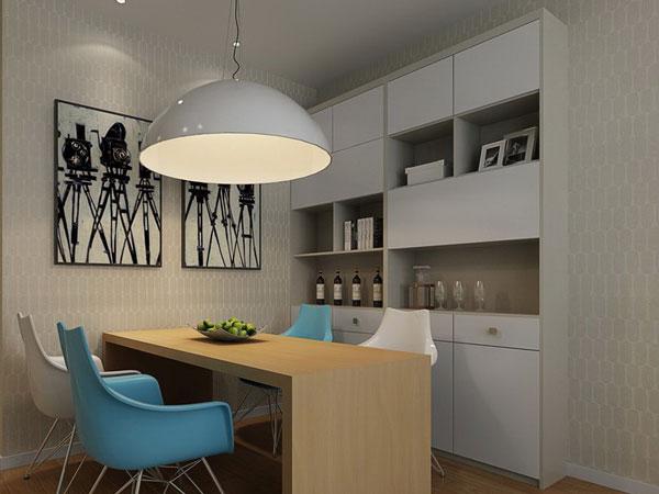 90平米房屋装修效果图——餐厅案例